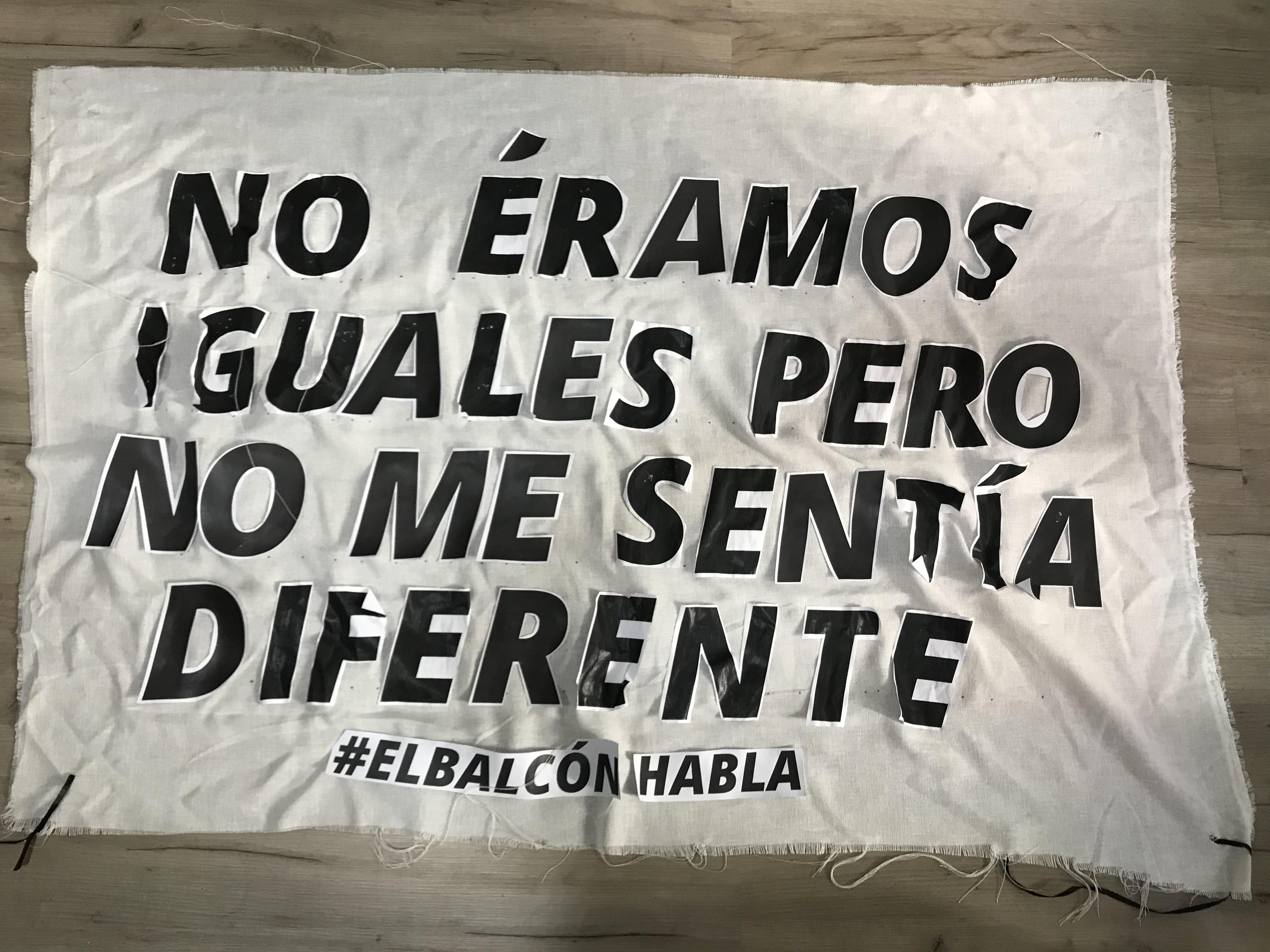 no éramos iguales pero no me sentía diferente #elbalcónhabla